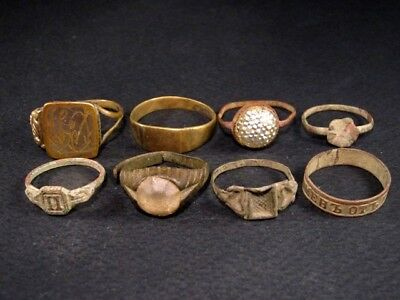 LOT OF 8 pcs. ANTIQUE RINGS, METAL DETECTOR FINDS!!!