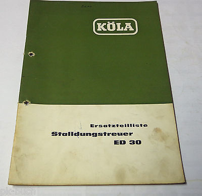 Industrial Parts Catalog/spare Parts List Köla Selbstladewagen Ea 30 1964