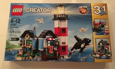 NEW IN SEALED BOX EXPERT LIGHT HOUSE LEGO 31051 CREATOR LIGHTHOUSE POINT