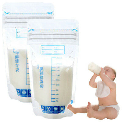 UK NEW Milk Freezer Bag Disposable Safe Baby Feeding Breast Milk Storage 30~150X
