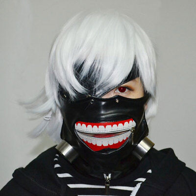 Halloween Adult Kid Face Mask PU Leather Tokyo Ghoul Kaneki Ken Party Cosplay AU