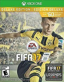 Brand New Sealed FIFA 17: Deluxe Edition (Microsoft Xbox One, 2016) Video Game