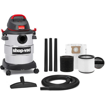 Shop-Vac 6 Gallon 4.5 Peak HP Stainless Steel Wet / Dry Vacuum Cleaner w/ Tools