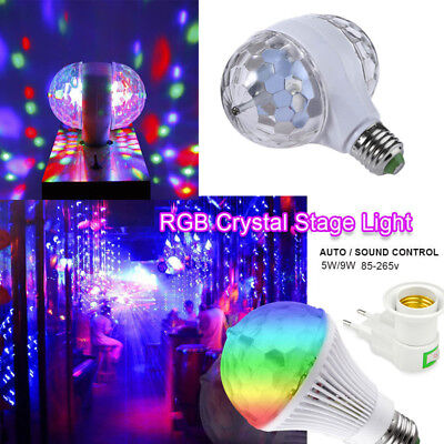 LED Stage Light DJ Disco Party Bar KTV Bulb Lamp RGB Auto Sound Rotating