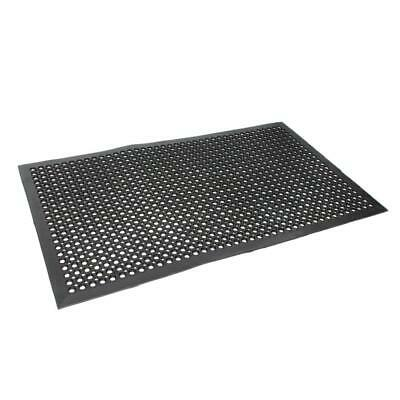 "Anti-Fatigue Floor Mat 36"" x 60"" Indoor Cushion Heavy Duty Use Black Color"
