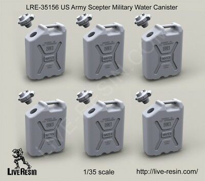 Live Resin LRE35156 1/35 US Scepter Military Water Canisters (6pcs)