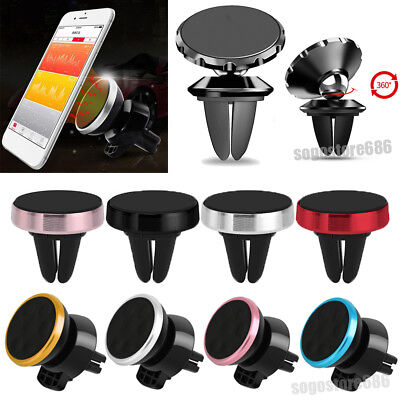 360°Rotate Car Air Vent Magnetic Mount Holder Stand For Universal Cell Phone GPS