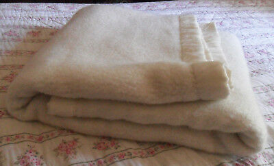 Vintage Creamy White Acrylic BLANKET For Babies & Children, Made In France, Warm