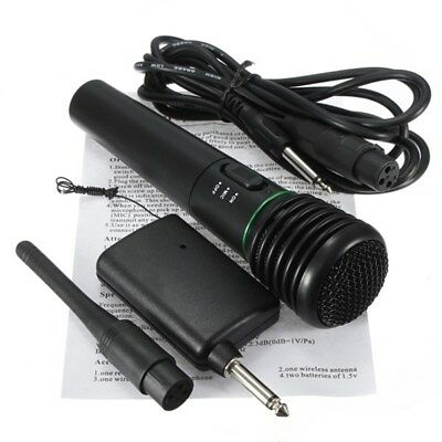 2in1 Pro Microphone Wireless Wired Handheld Cordless Mic For Karaoke Singing AU