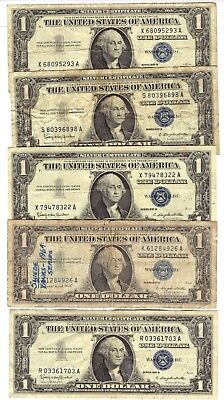 1957 A-B One Dollar $1 Silver Certificate-Buying One Note