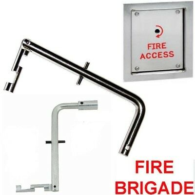 Fire Brigade Maintenance Entrance Panel Key Cut-Out Version Firemans FB Drop Key