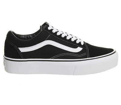 5f8ceb346c WOMENS VANS OLD Skool Platform BLACK WHITE Trainers Shoes - EUR 69 ...