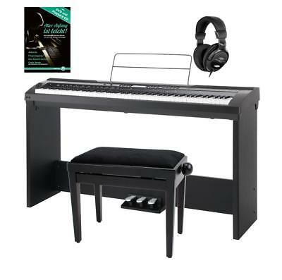 Piano Clavier Numerique Synthetiseur Digital 88 Touches 64 Sons Banc Casque Set