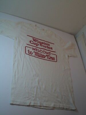Pre Owned Vintage Winston Cup Series Miller Time Charlotte Nc Sml T Shirt W/wear