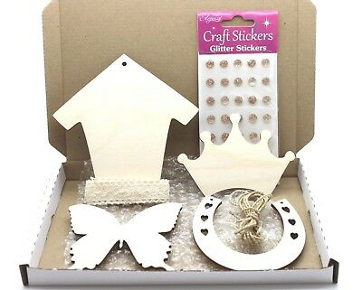 Bundle of Wooden Shapes & Craft goodies - see details - Crafting Mixed Media