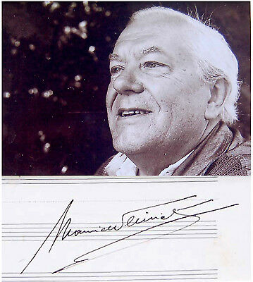 FRENCH Composer MAURICE THIRIET Hand SIGNED AUTOGRAPH + PHOTO + DECORATIVE MAT