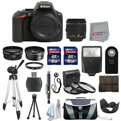 Nikon D5600 Digital SLR Camera Body + 3 Lens 18-55mm VR + All You Need Kit