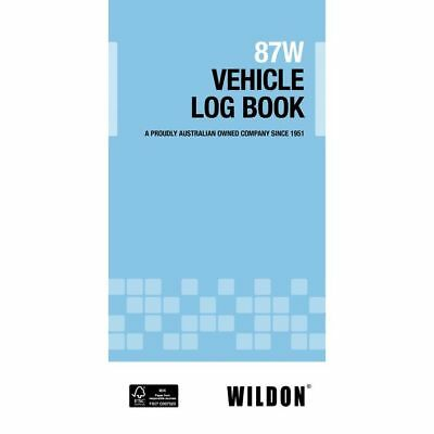 Vehicle Log Book  Wildon 87W BLUE, WIL087, Record Travel for ATO Tax Purposes
