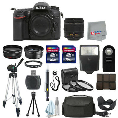 Nikon D7200 Digital SLR Camera Body + 3 Lens 18-55mm VR + All You Need Kit