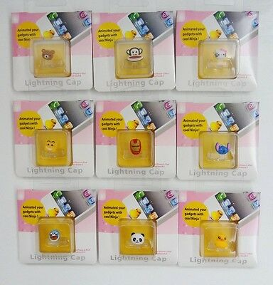 9Pcs Anti Dust USB Port Plug Home Button Cap Fits Iphone 4 4S /Ipod touch/Ipad