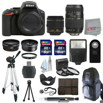 Nikon D5600 Digial SLR Camera 4 Lens Kit 18-55mm VR + 70-300 + All You Need Kit
