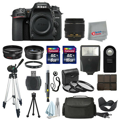 Nikon D7500 Digital SLR Camera Body + 3 Lens 18-55mm VR + All You Need Kit