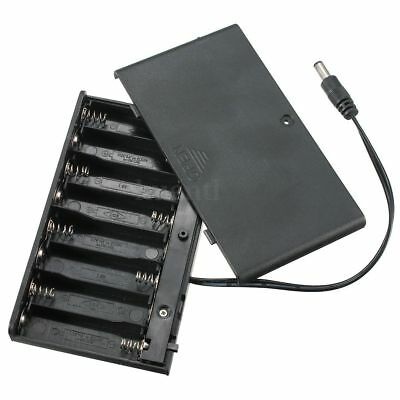 12V Battery Box AA x 8 Holder/Case Enclosed Box On-Off Switch Powered Led Strip