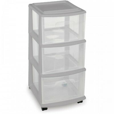 3 Drawer Storage Cart Small Clear Rolling Dorm Kids Plastic Drawers  Organizer