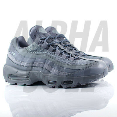 finest selection 51e0f 2f35d Mens Nike Air Max 95 Essential Trainers - Cool GreyCool Grey - 749766-