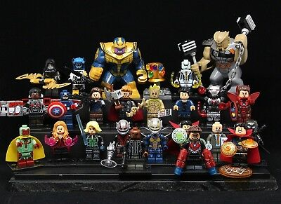 24Pcs set Marvel Avengers 4 Superhero Infinity Stone Thanos minifigures fit Lego