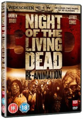 Andrew Divoff, Jeffrey Combs-Night of the Living Dead 3D - R (UK IMPORT) DVD NEW