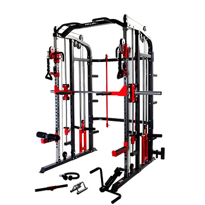 Maxam® Smx-900 Smith Machine Cage Bench Home Gym Multi Stack Rack Barbell Bar