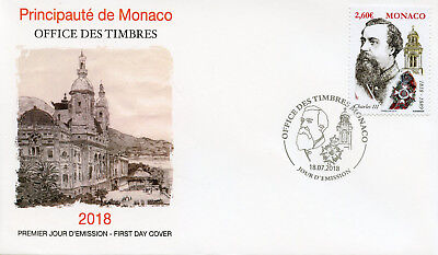 Monaco 2018 FDC Prince Charles III Birth Bicentenary 1v Set Cover Royalty Stamps