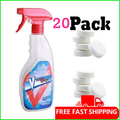 Multifunctional Effervescent Spray Cleaner V Clean Spot 20 pcs/set With Bottle