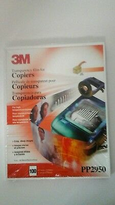 3M Transparency Film for Copiers New Sealed 100 Sheets PP2950