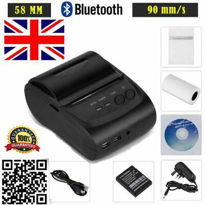Wireless Bluetooth USB 58mm Thermal Dot Receipt Printer ESC/POS/STAR+Paper Roll