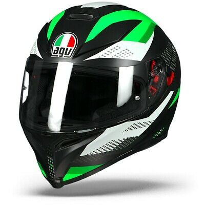 AGV K-5 S Marble Matt Black White Green, Motorcycle helmet K5 S, NEW!
