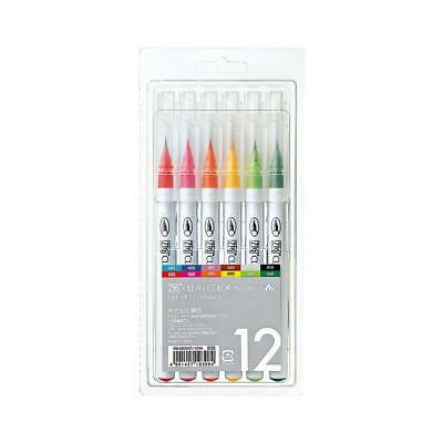 Zig Clean Color Real Brush Pens - Pack Of 12