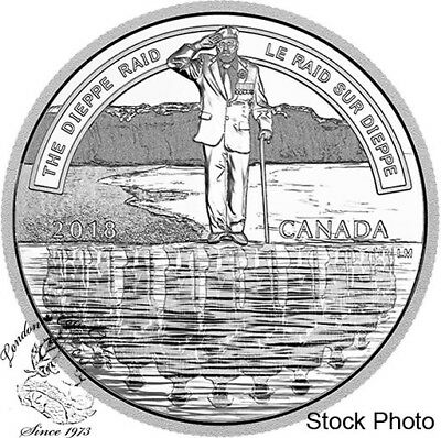Canada 2018 $20 The Dieppe Raid 1 oz Pure Silver Coin