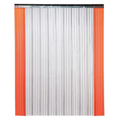 TMI 999-00030, PVC Strip Door, 8 x 5 ft, Clear/Orange