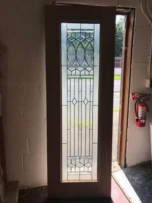 Beautiful Mahogany  Cut Glass Custom  Arts And Crafts Estate Door - Jhlp