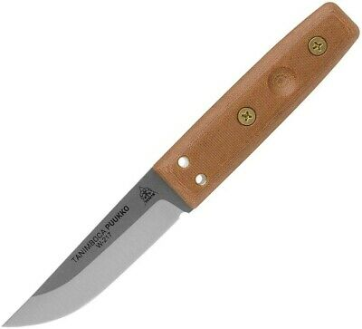 Tops Micarta Tanimboca Puuko Straight Fixed Hunting Knife + Sheath TPUK-01