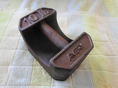 Antique Avery 10 Lb. Balance Cast Iron Scale Weight