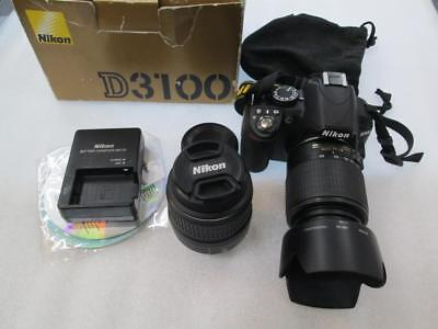 Nikon D3100 14.2MP Digital SLR Camera w kit AF-S DX VR 18-55mm & 55-200mm Lenses