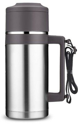 Stainless Steel Thermos Bottle 53 Oz Insulated Travel Vacuum Coffee Water Flask