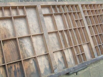 Letterpress Printing WOODEN TYPECASE Improved GOOD CONDITION DIRTY Compositor's