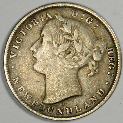 1872-H Newfoundland 20 Cents - Nice And Bold Very Fine - Priced Right!