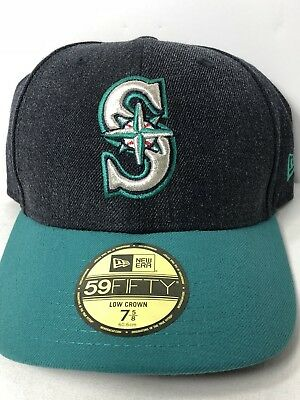 separation shoes 6e94d 76325 SEATTLE MARINERS 59FIFTY MLB Low Crown Cap New Era Fitted Hat Size 7 5 8