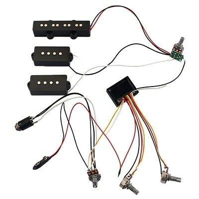 3 Band EQ Preamp Circuit Bass Guitar Wiring Harness For Active Bass Pickup