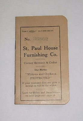 Vintage St. Paul House Furnishing Co. Payment Book - 1919